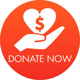 Donate now button with heart and hand