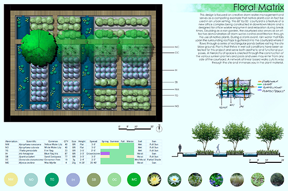 Collin Bowie South Florida Landscape Design award - plan