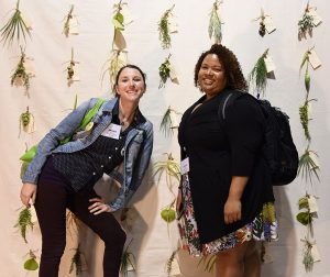 Go Gators! UF environmental horticulture graduate students Amanda Morgan and Crystal Conner helped us out at the show.