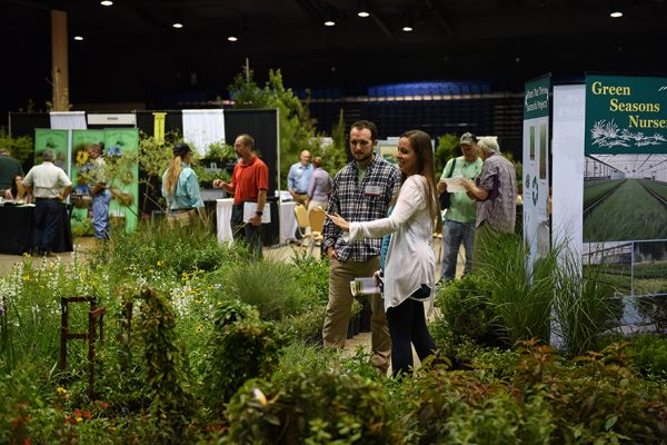Scene from the 2017 Native Plant Show exhibit floor