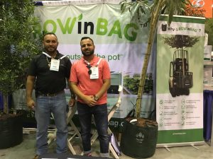 William and Felix with GrowinBag, another eco-friendly product we should be using whenever possible. #ThinkBeyondPlastic