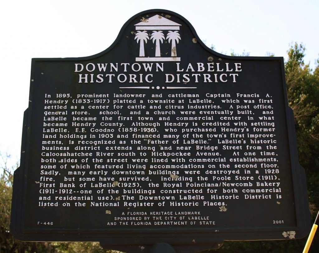 Historic LaBelle Sign