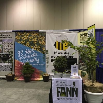 Part of FANN's booth at the 2017 FNGLA Landscape Show Redux